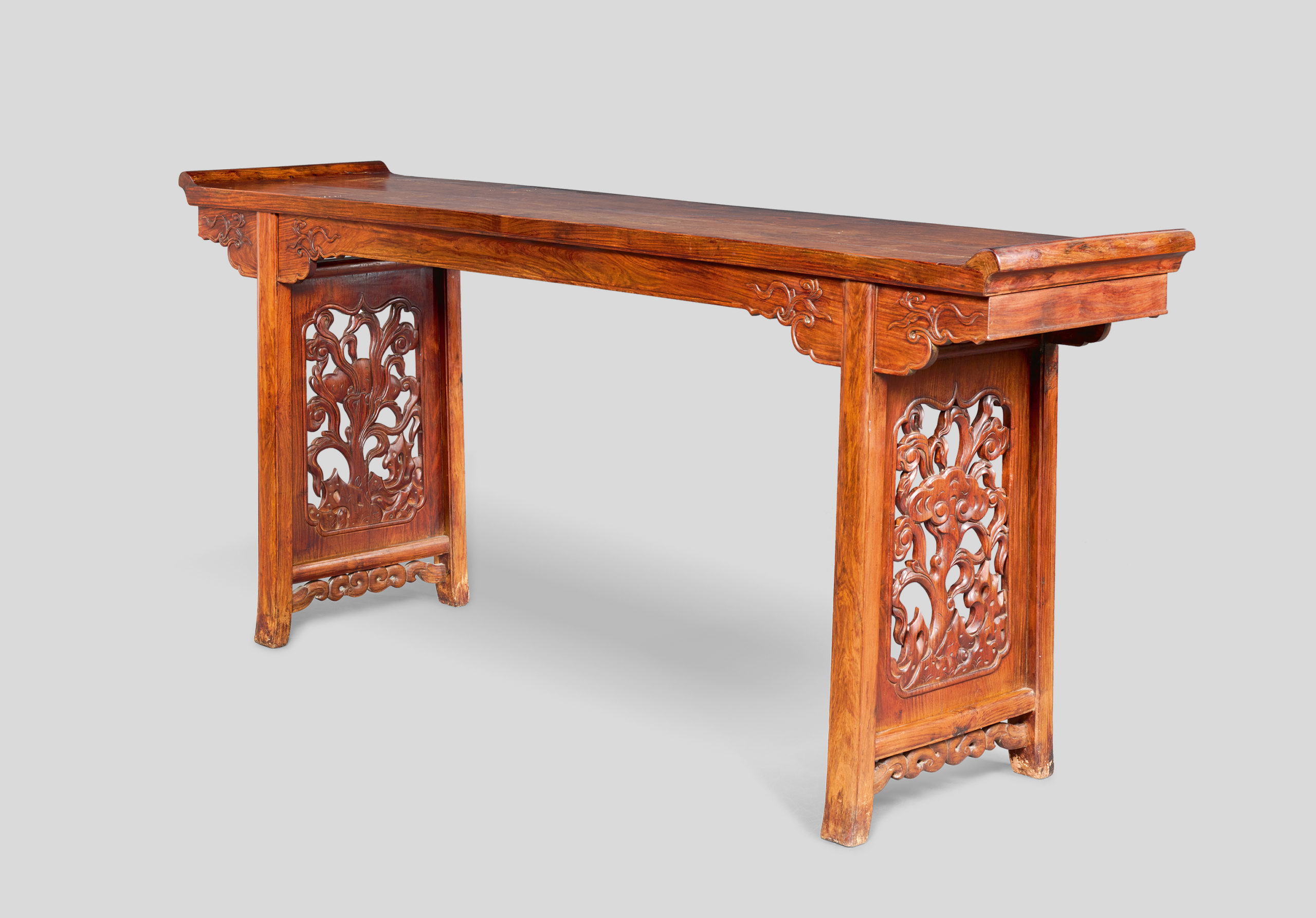 A HUANGHUALI ALTAR TABLE, QIAOTOUAN, 17TH CENTURY, 203 by 47.5 by 90 cm