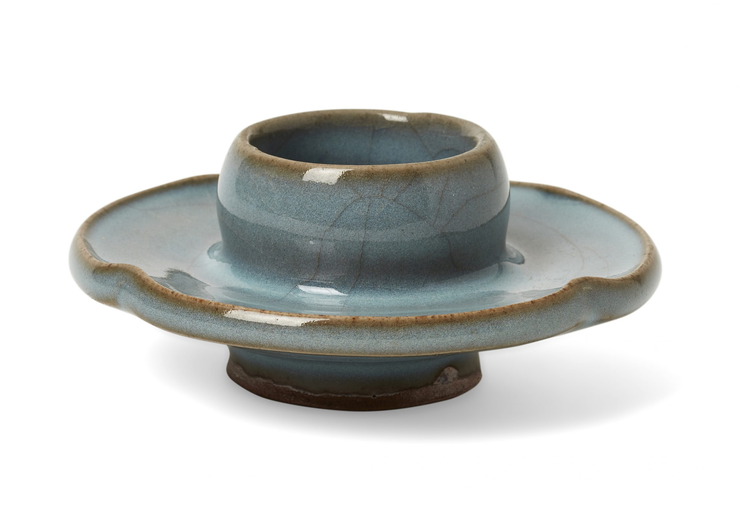 A Chinese Junyao cup stand, Song dynasty
