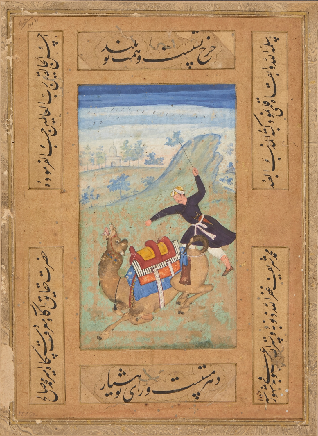 A Mughal painting of a camel driver, India, circa 1610, 24 x 17cm. from an Important Private Collection, £3000-4000