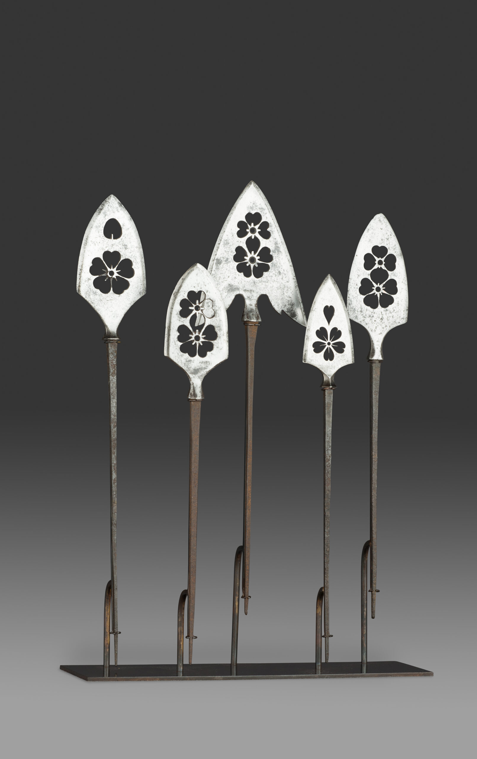 A Collection of Arrowheads,Yanone, Edo Period, 17th -19th century Japan. Steel Height 24 cm / 9.5 in