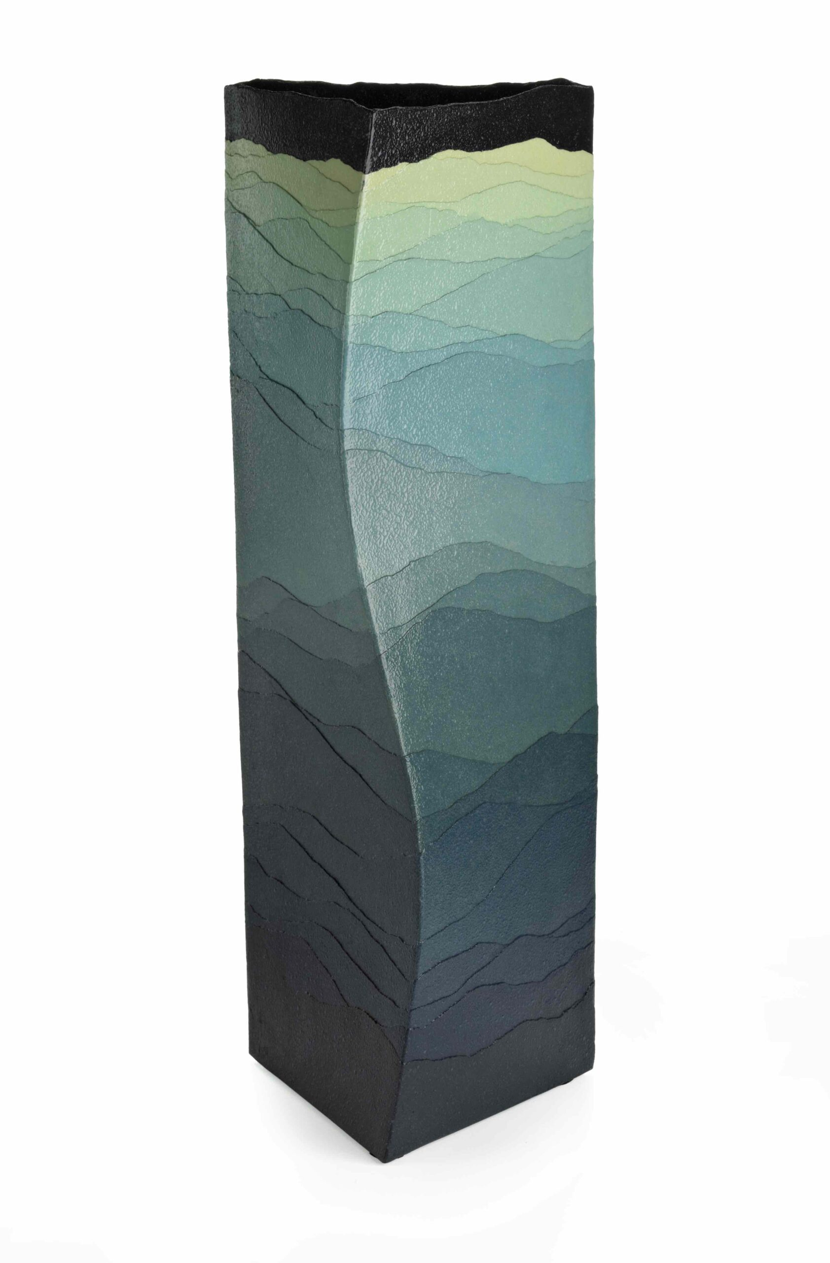 TO THE MOON tsuki ni mukau by MIYASHITA Zenji (1939–2012)   Heisei 16, 2004 Stoneware, applied coloured clays, saidei technique
