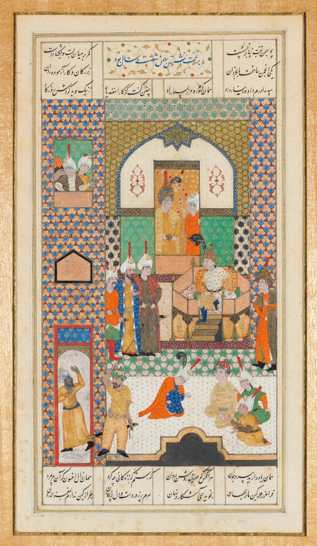 BAHMAN ENTHRONED AT COURT