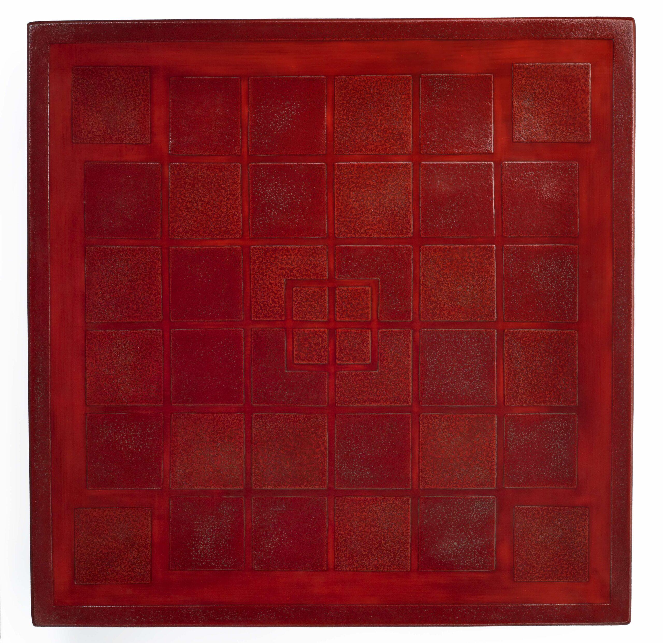 ORNAMENTAL TRAY kasari bon by ISAO Huyuki (Fuyuki) (b. 1927)   Showa period, 1950/60s Lacquer on wood