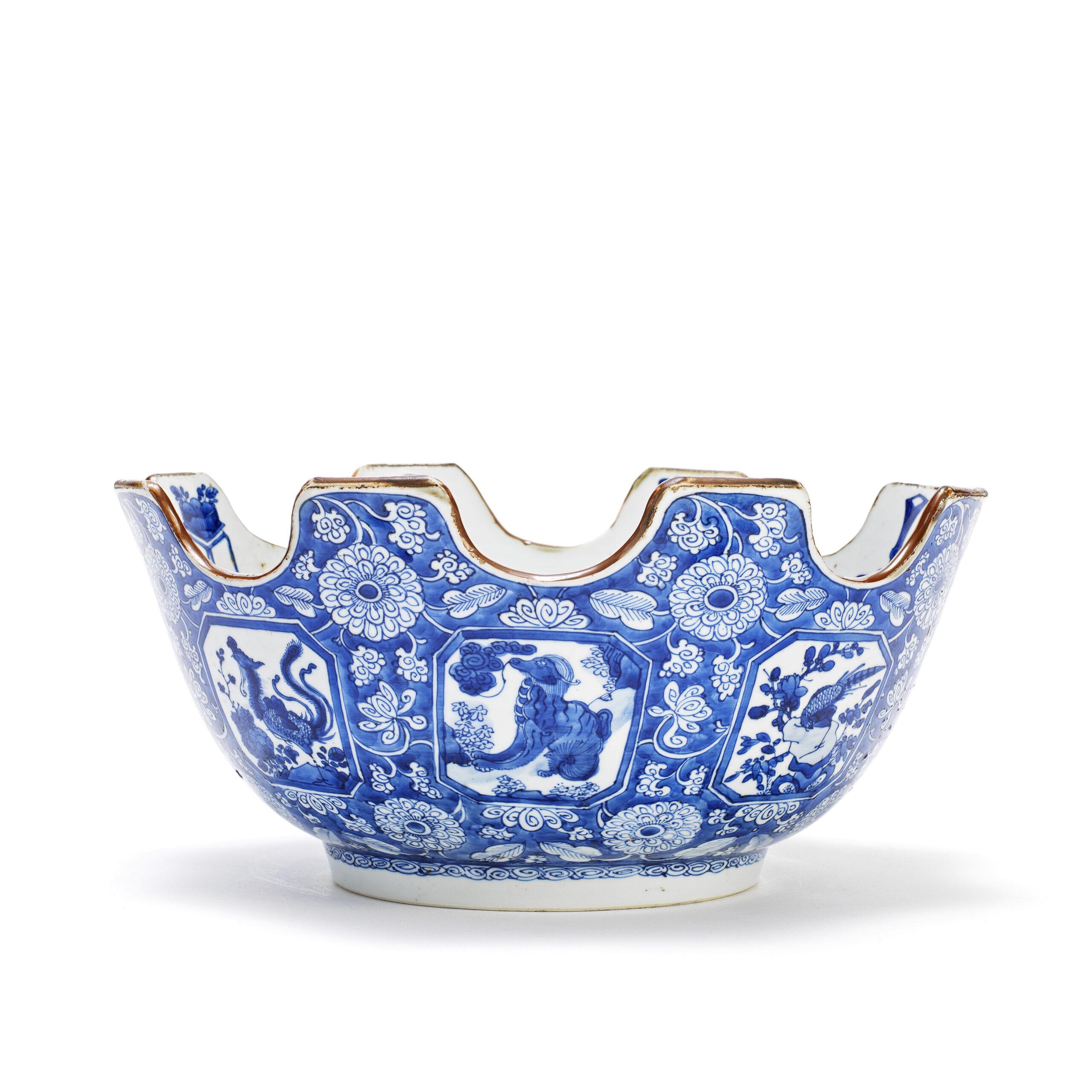 A RARE BLUE AND WHITE MONTEITH, Kangxi, c.1700-1715