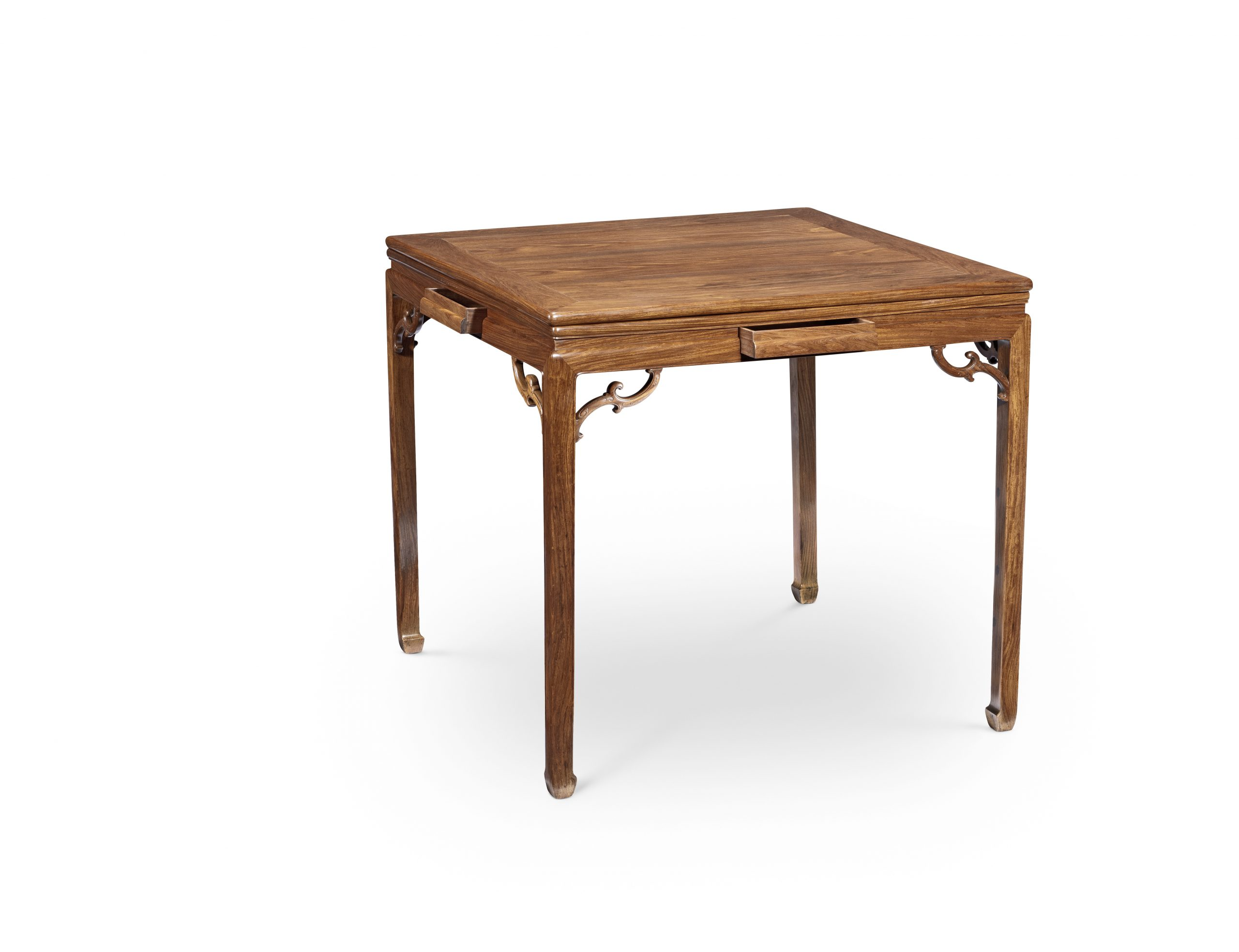 A magnificent huanghuali square games table, qizhuo, 18th century - The H Collection.