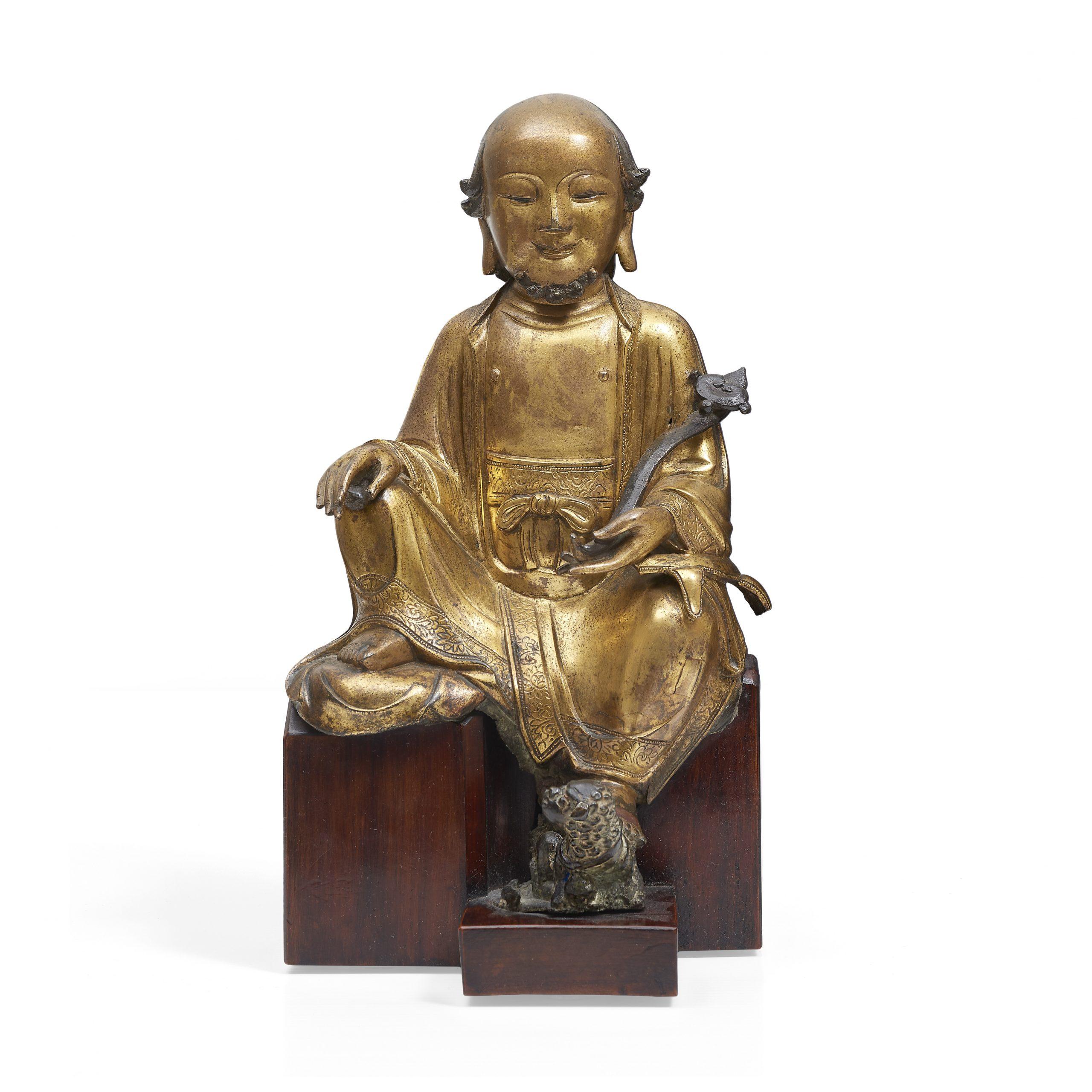 A very rare gilt-bronze figure of Vajraputra, 14th-15th century - Fine Chinese Art