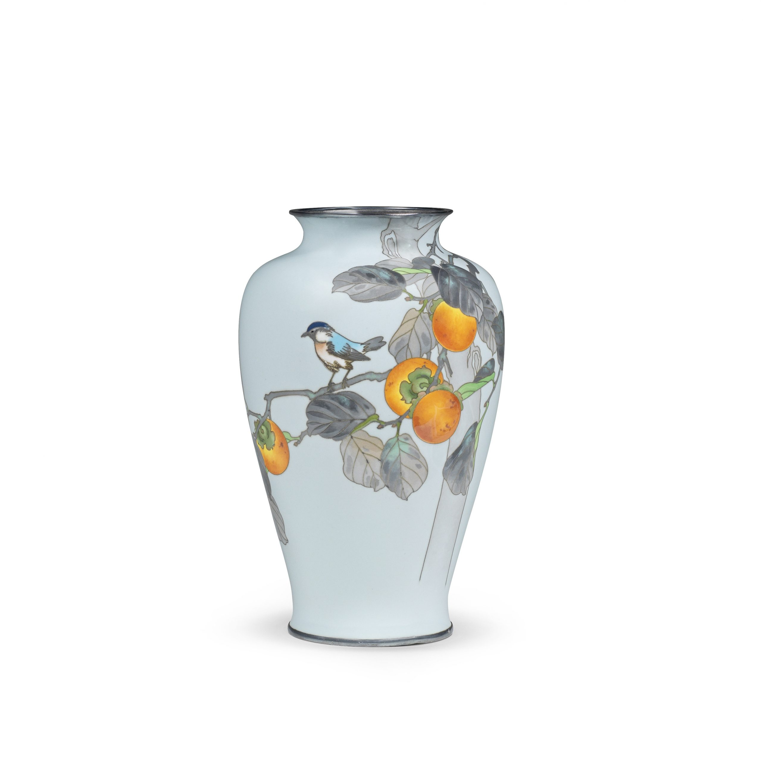 A cloisonné-enamel moriage baluster vase, By the workshop of Ando Jubei of Nagoya, Meiji (1868-1912) or Taisho (1912-1926), early 20th century - Snow, Sex and Spectacle