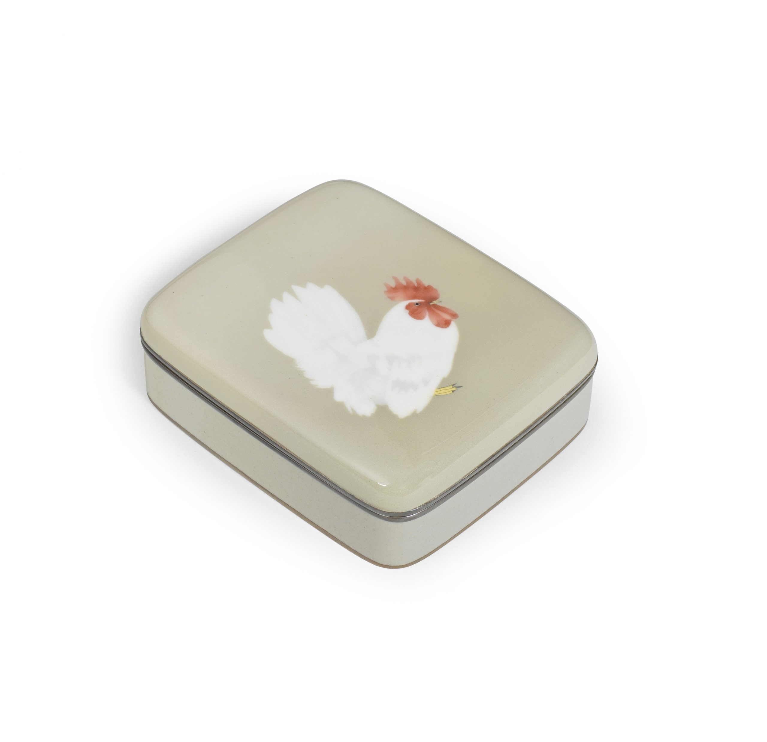 A Cloisonné-enamel rounded rectangular box with en-suite cover, By Namikawa Sosuke (1847-1910), Meiji era (1868-1912), late 19th/early 20th century - Snow, Sex and Spectacle