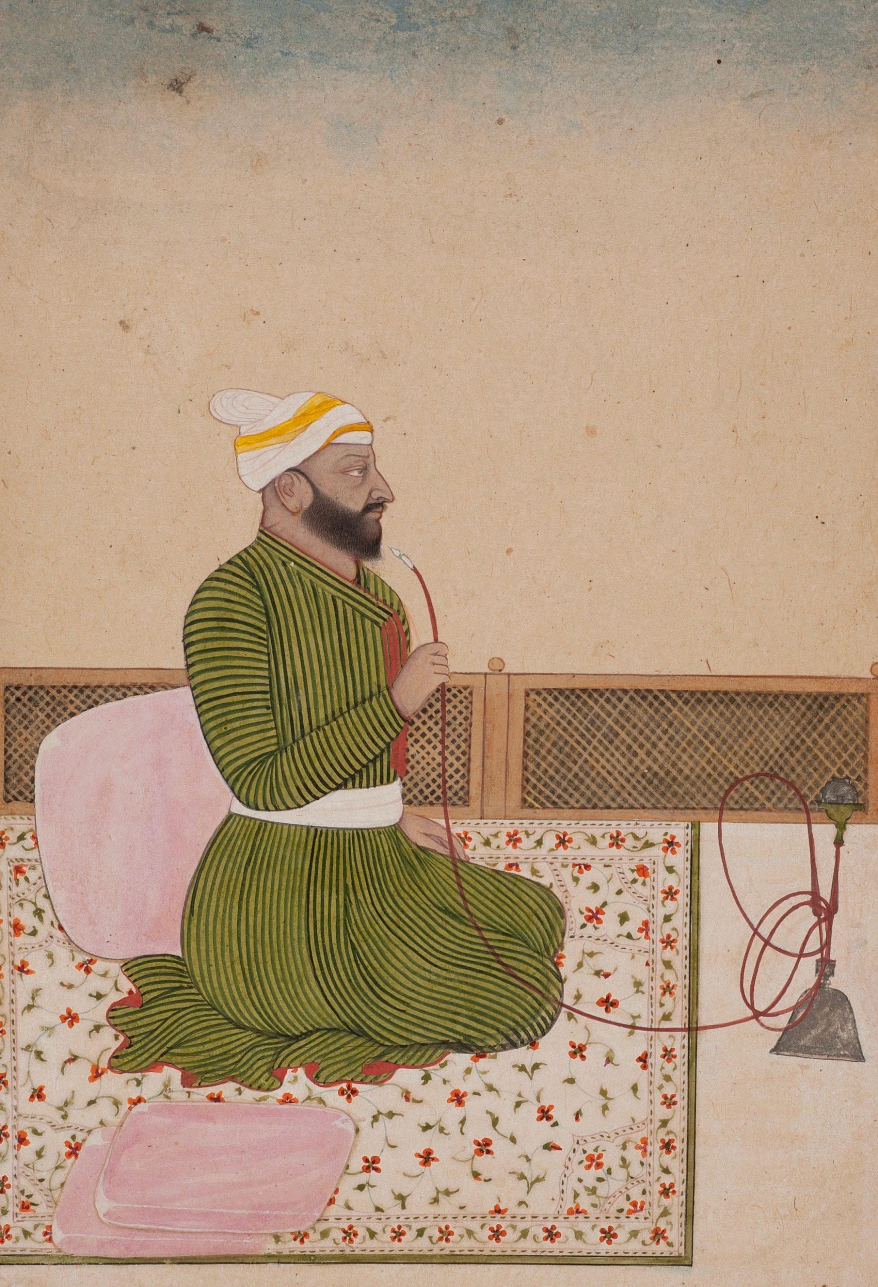 RAJA JAGRUP SINGH OF JASWAN (r. 1770 - 1774) Kangra, India Opaque Pigment on paper Circa 1770