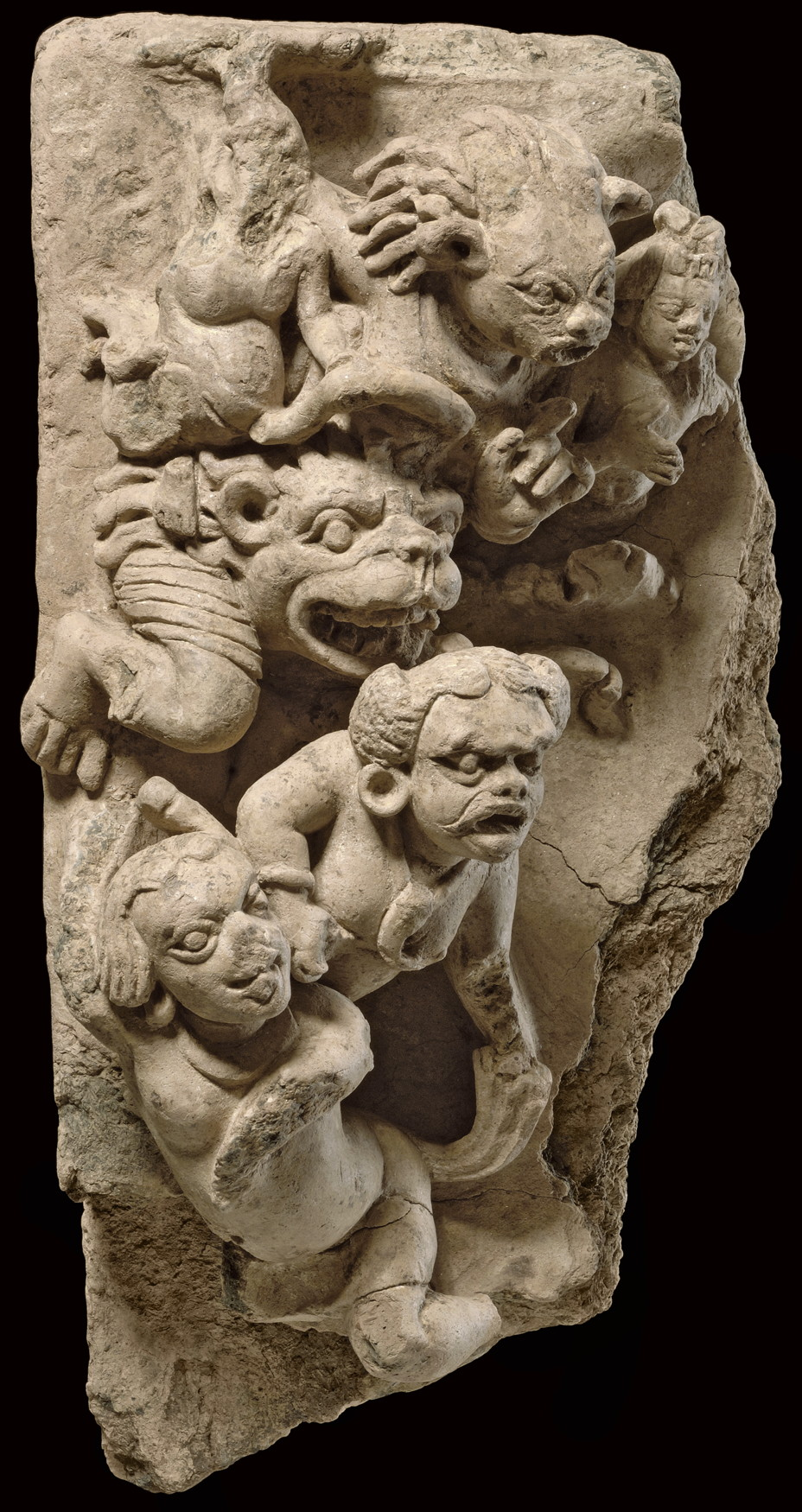 Mara's Horde, Terracotta, Eastern India, Bengal, 5th to 8th century, height 42cm, width 20.5cm