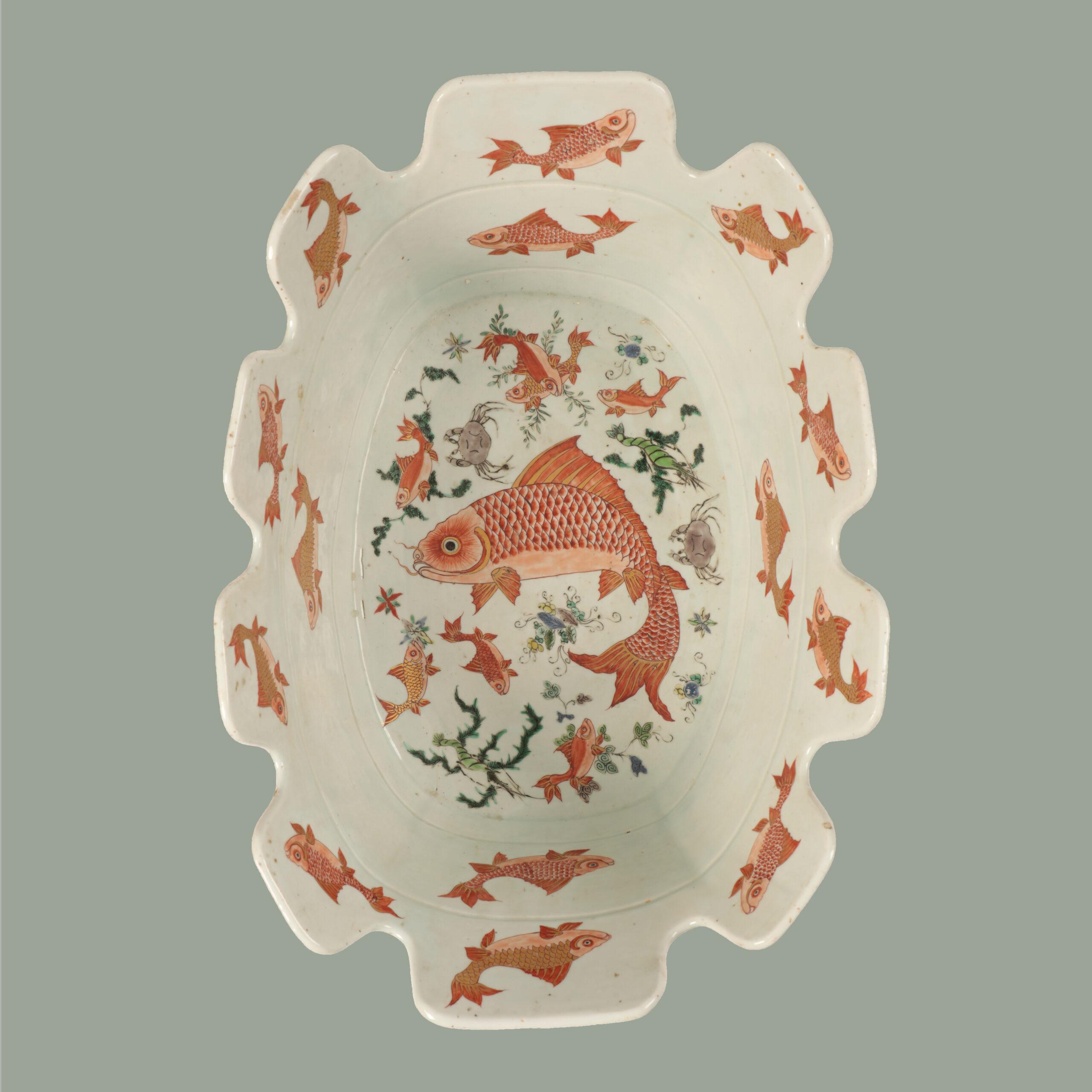 Impressive 'Famille Verte' Monteith bowl