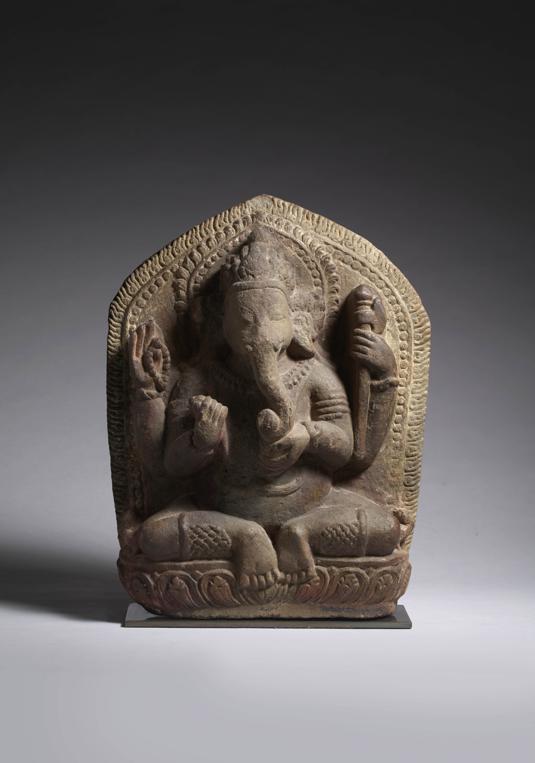Stone Ganesha Nepal, 16th - 17th century Height: 17 3/4 inches, 45 cm Width: 14 inches, 35.5 cm