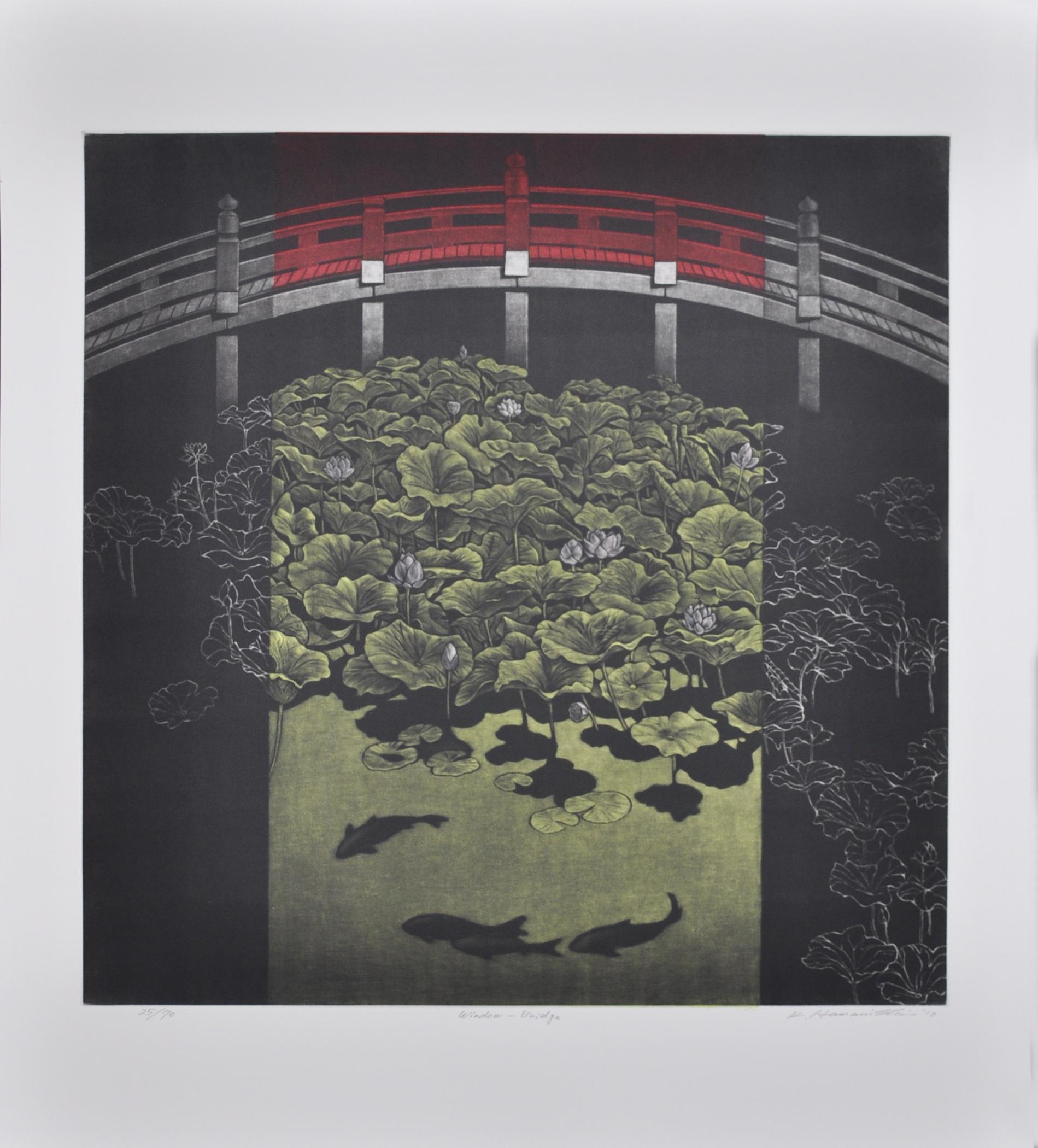 """Katsunori Hamanishi - """"Window Bridge"""" - 2010, Mezzotint, Ed of 70, Sheet size 62 x 54 cm"""