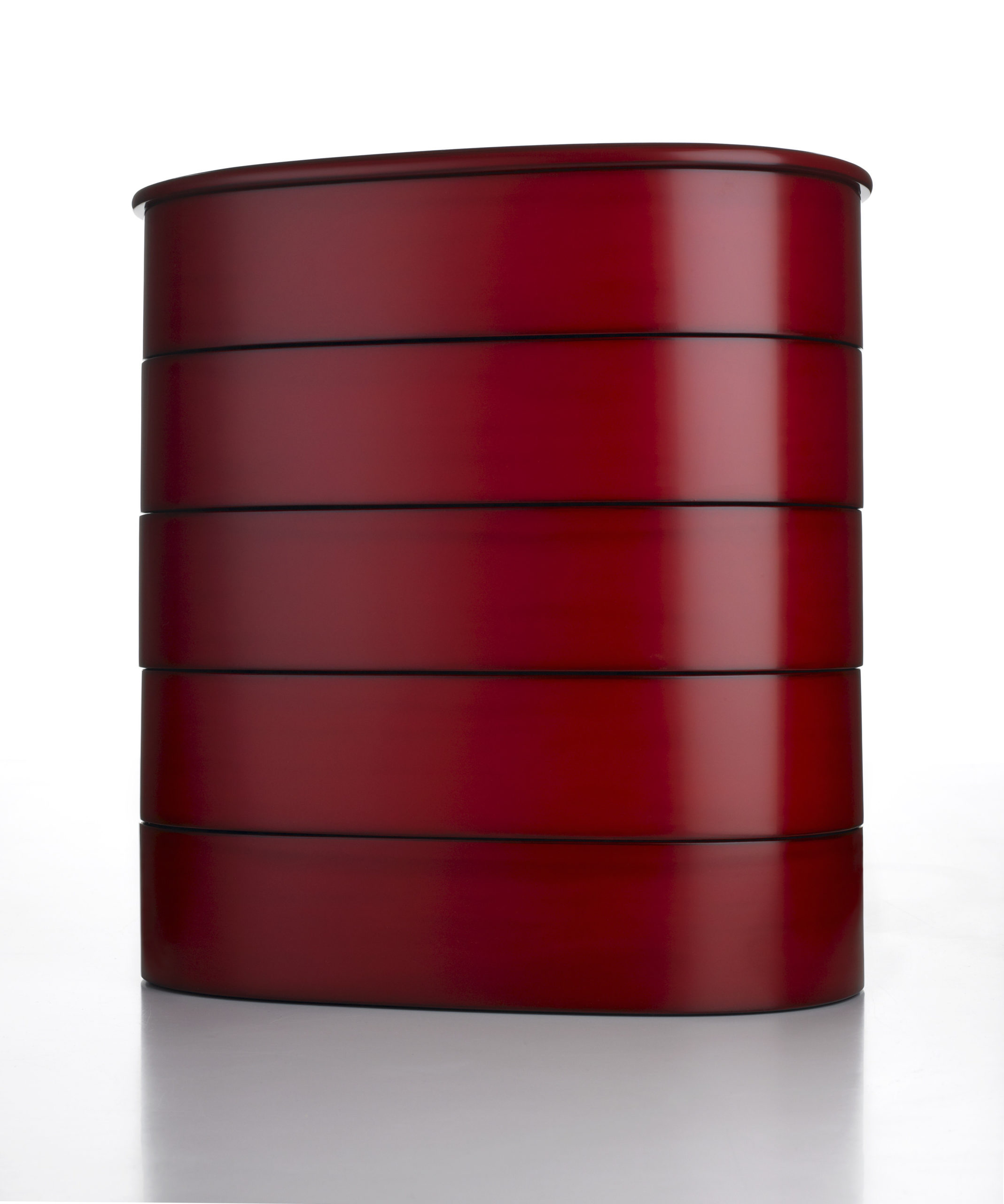 BENTWOOD FIVE-TIERED BOX (magewa go dan ju)  by KADO Isaburo (1940 –2006) Heisei period, early 2000s