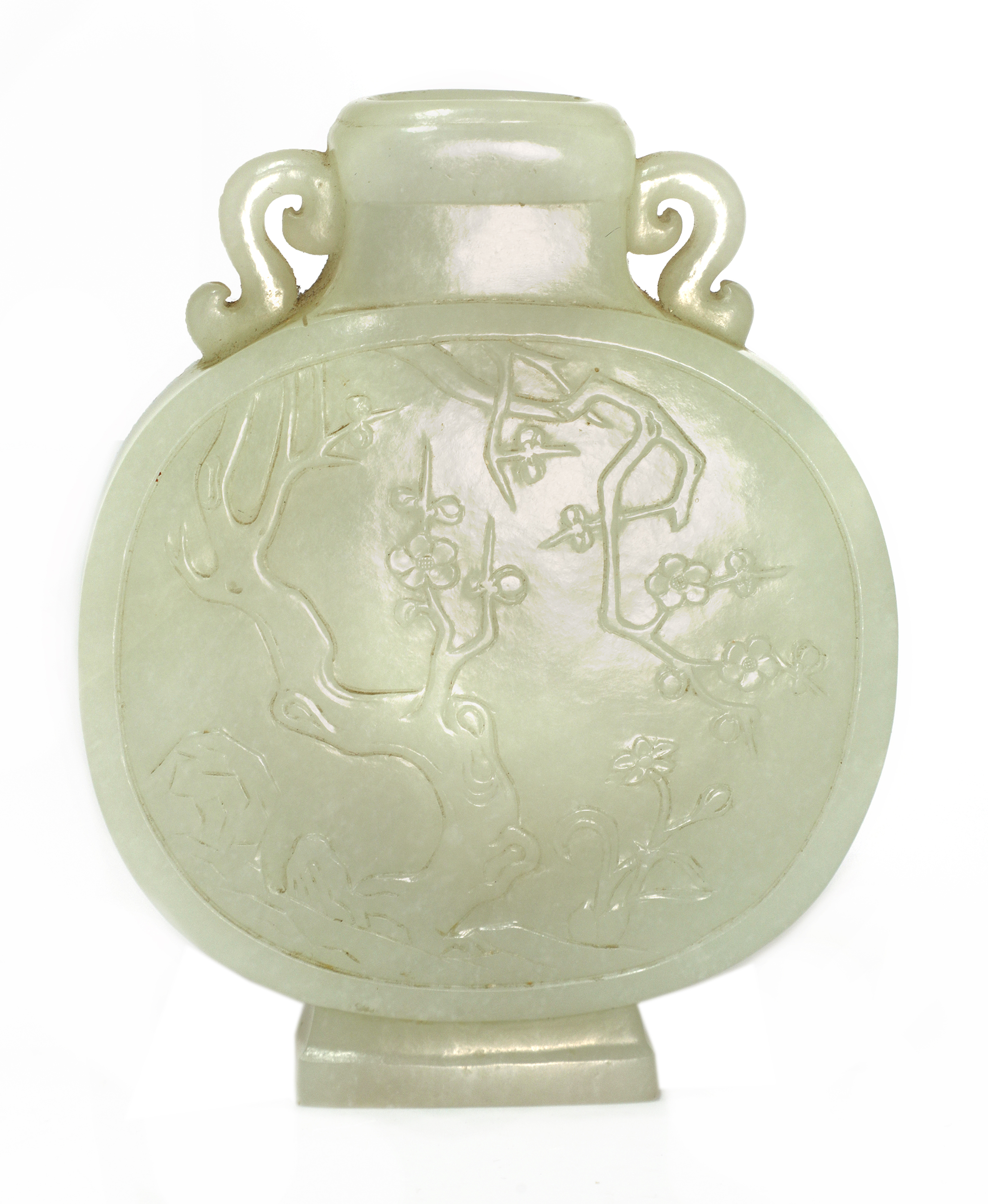 A Chinese jade moon flask,