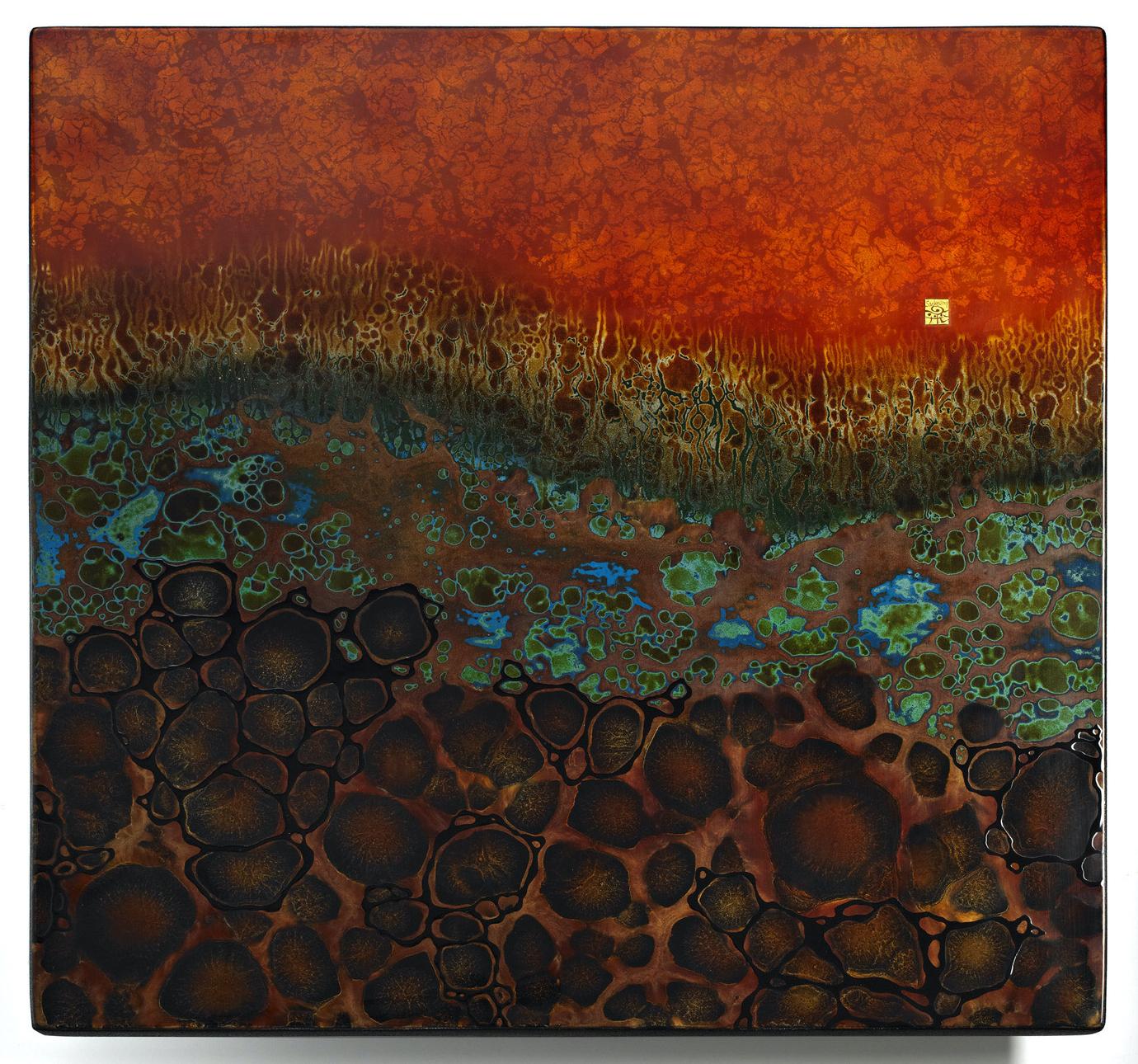 #1161 Yusuke Saiki - untitled, 2020 Sumi Ink on Washi Paper 150 x 380cm