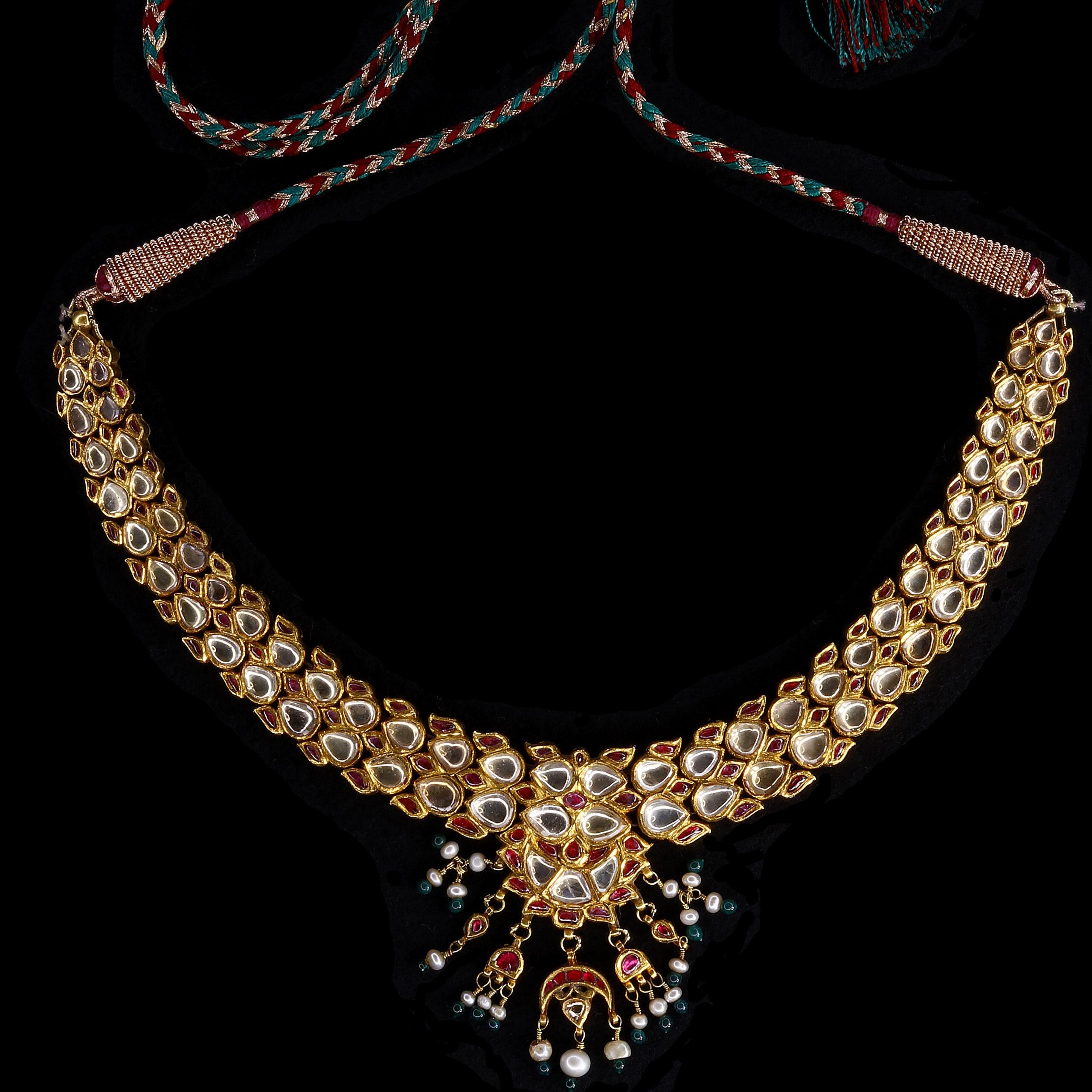 White Sapphire Necklace India 19th Century