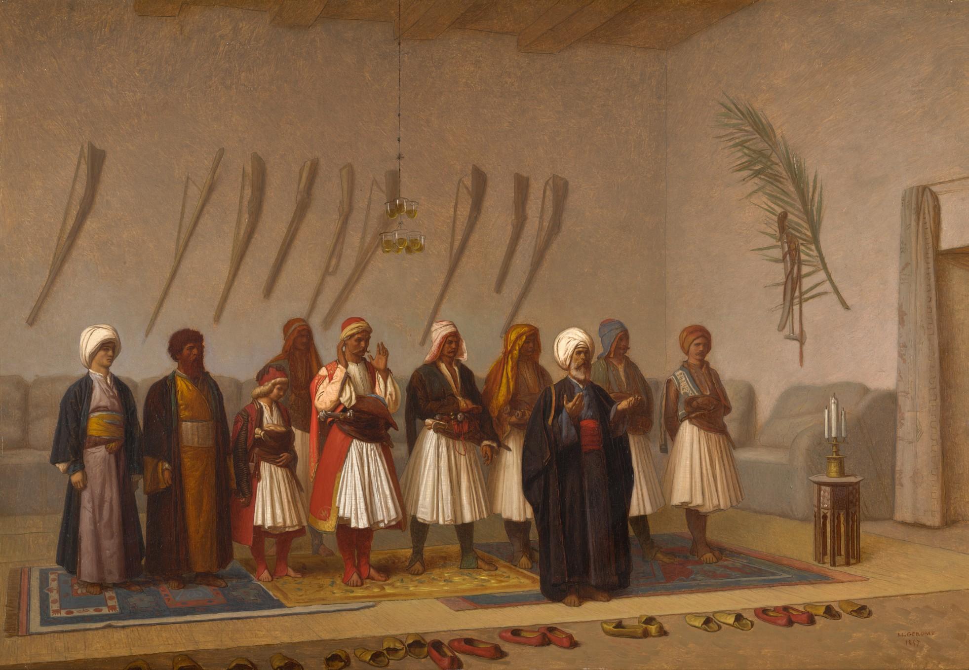 Jean-Léon Gérôme   Prayer in the House of the Arnaut Chief, 1857