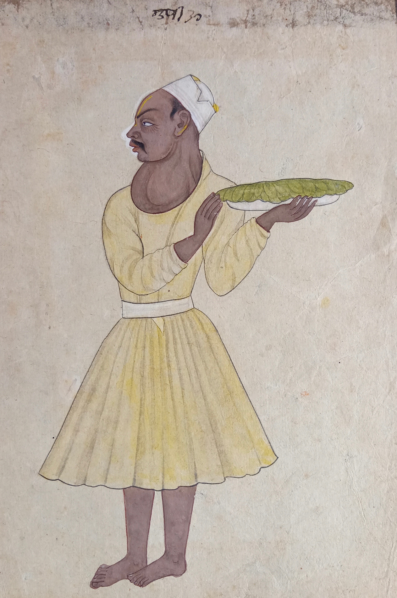 A ROYAL SERVANT WITH A GOITRE