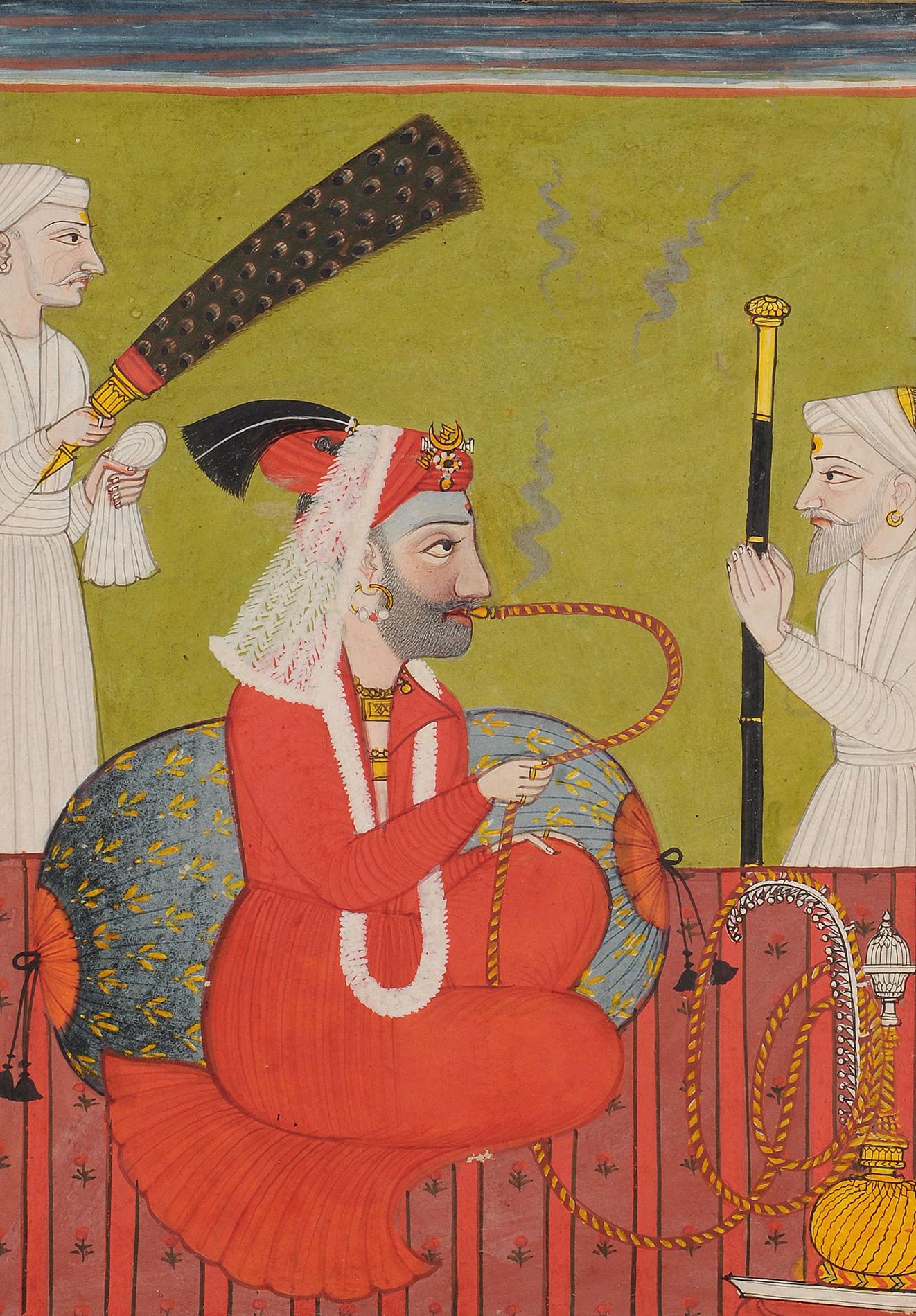 RAJA SHAMSHER SEN OF MANDI (1727-1781) Mandi, India Opaque Pigment on paper Circa 1770-1780