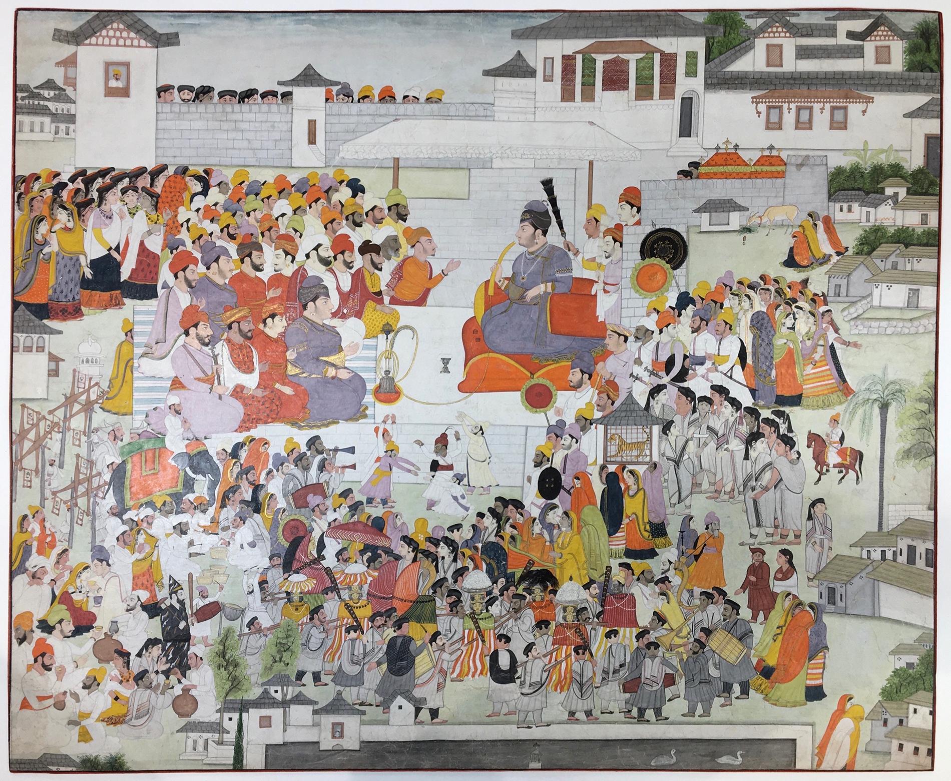 MAHARAJA ISHWARI SEN OF MANDI CELEBRATES THE SHIVARATRI FESTIVAL Mandi, India Opaque Pigment on paper 1807