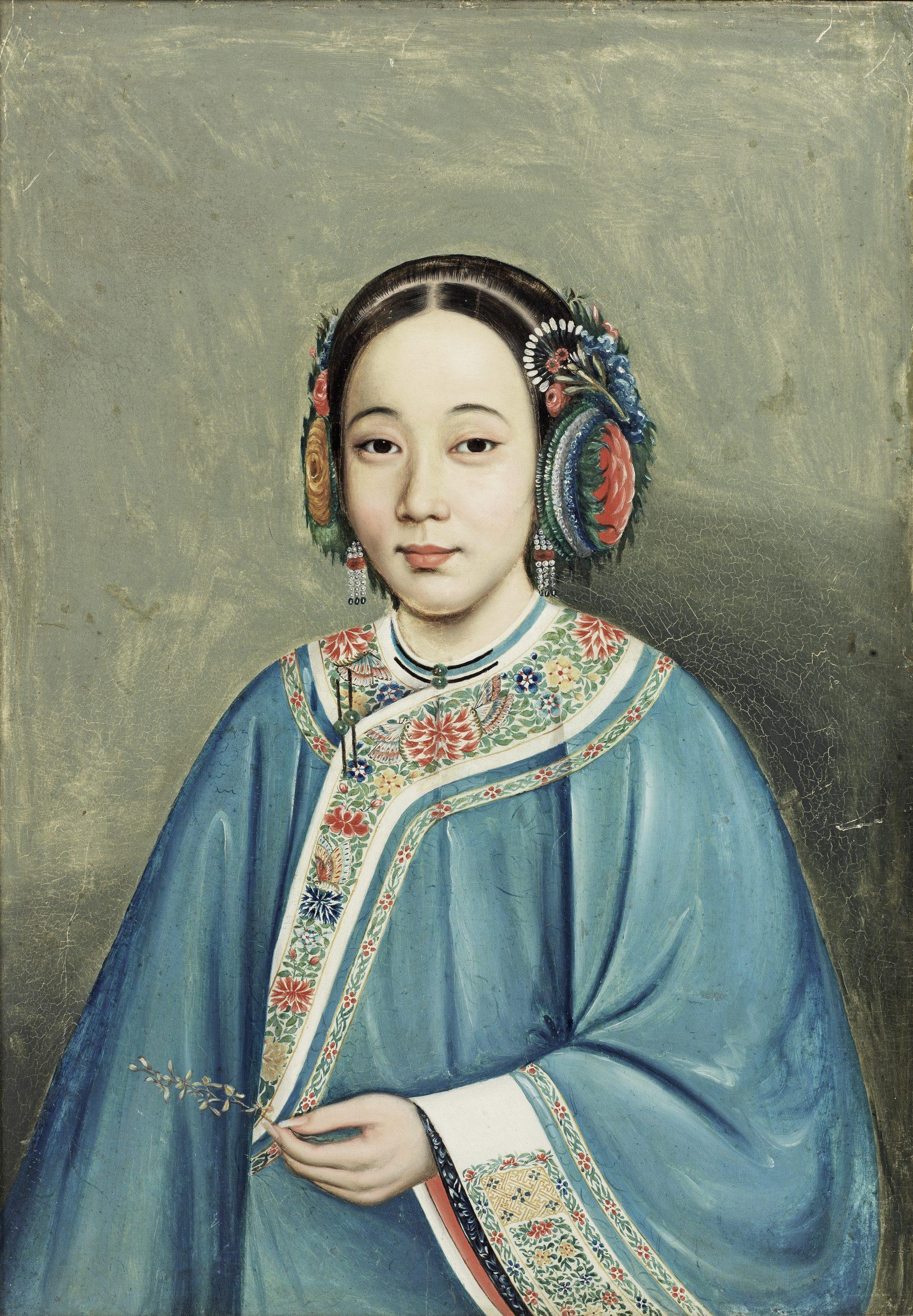 School of Lamqua (circa 1830-1850), Portrait of a Beauty