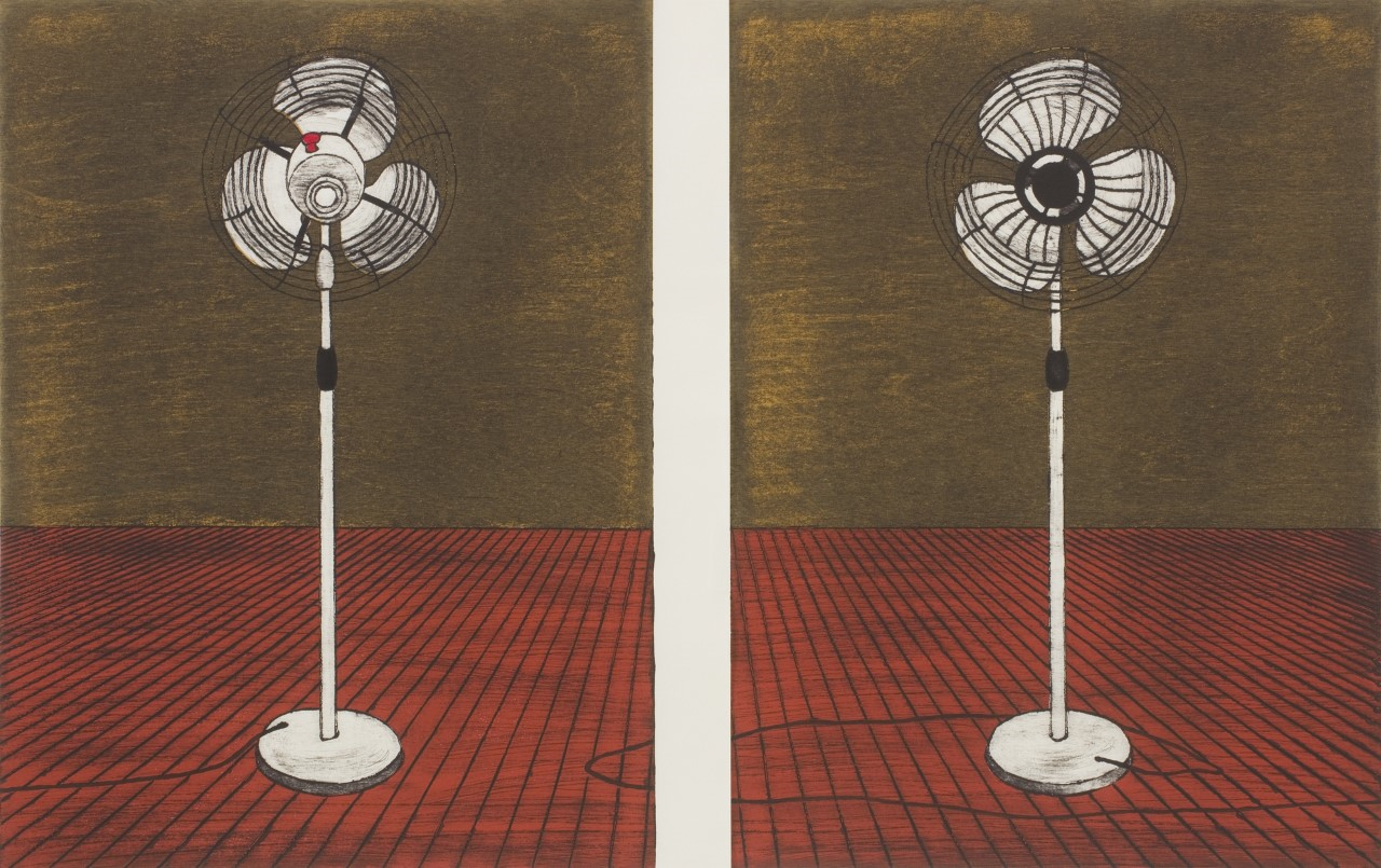 """Nana Shiomi - """"Putting Air Into the Picture! Letting Air Out of the Picture!"""" (Diptych)"""