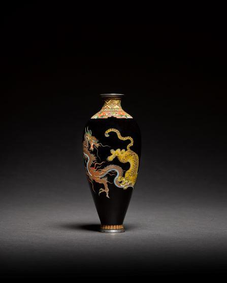 From the Collection of John Okladek - A cloisonné enamel vase Meiji period, late 19th century