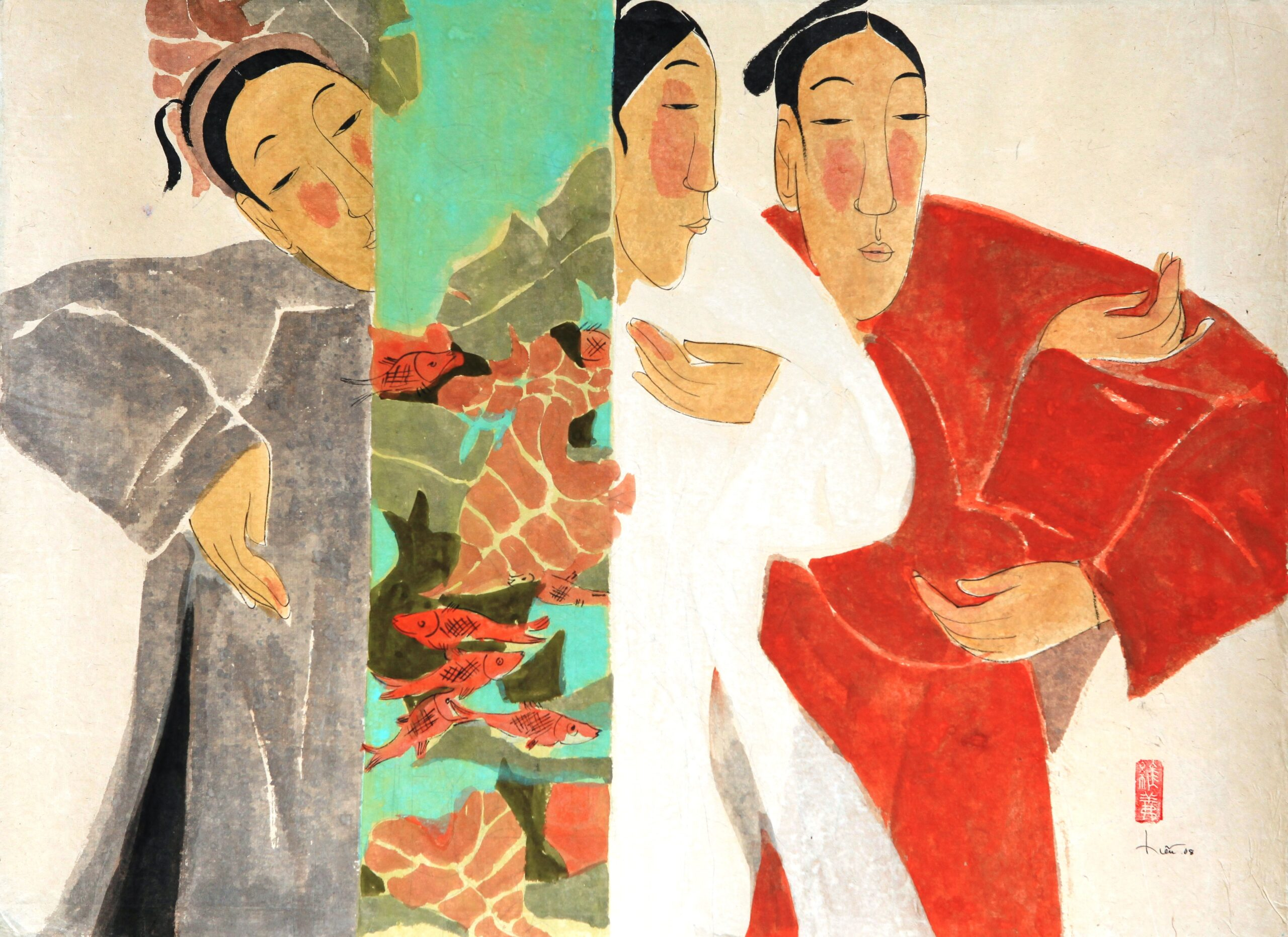 Springtime of Grace by Vu Thu Hien, watercolour on handmade paper, 2008, 60 x 80 cm