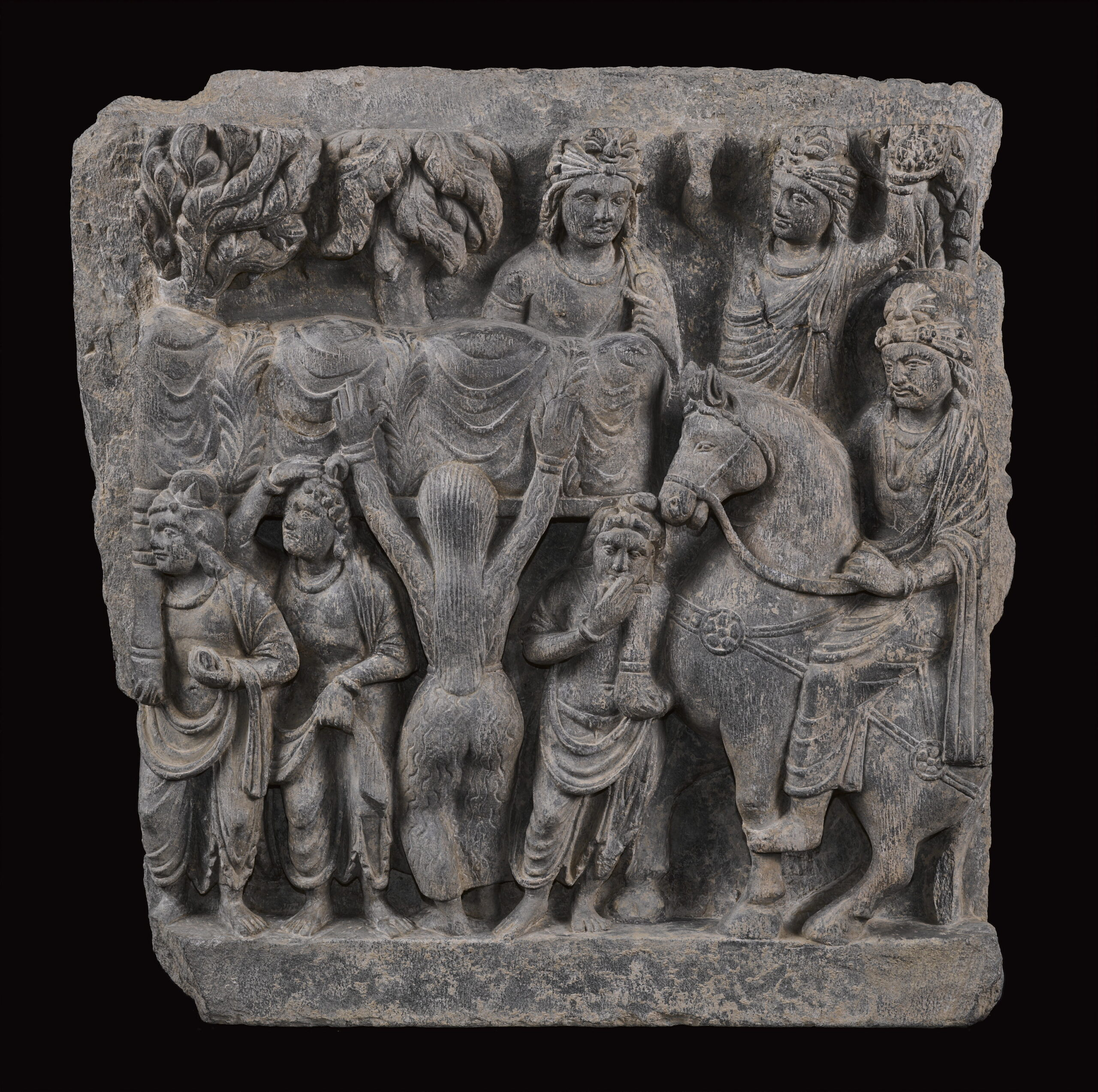 Gandharan narrative frieze, late 1st/2nd century, 40cm high
