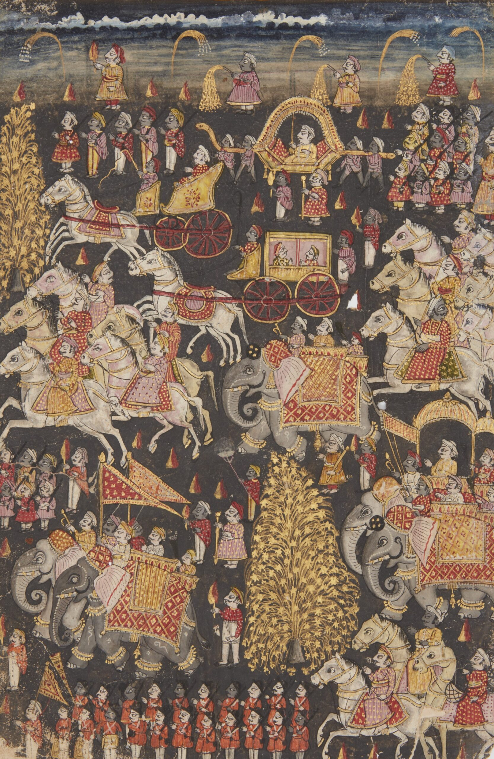 produced for the Nawab of Sachin Ibrahim Muhammed Yakut Khan I Bahadur (r. 1802 - 1853AD), Sachin, South India, first half of the 19th century, with 29 illustrations, 26.4 x 19.2cm, £8,000-£12,000