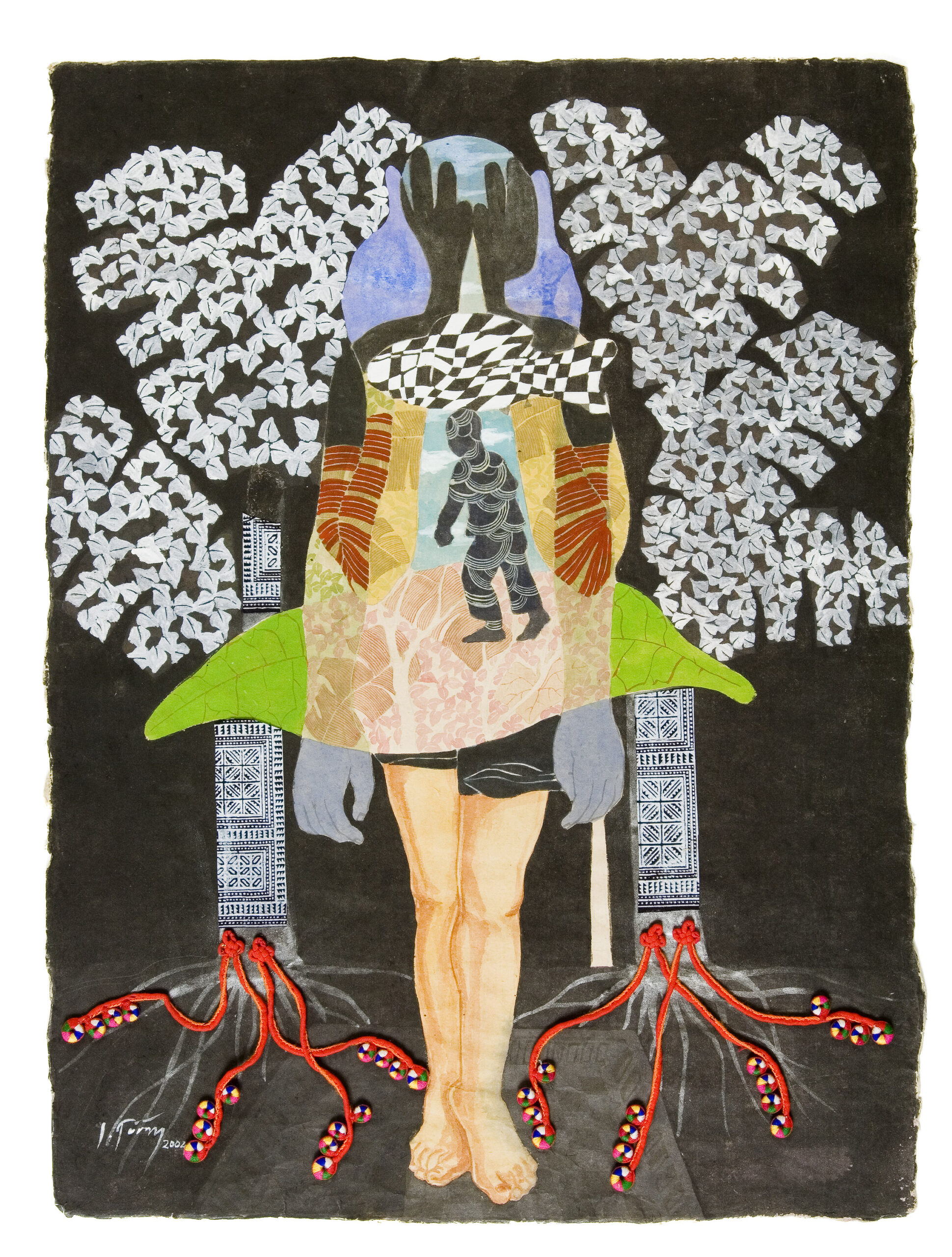 Gardens of Eden by Dinh Thi Tham Poong, watercolour on handmade paper, 2004, 80 x 60 cm