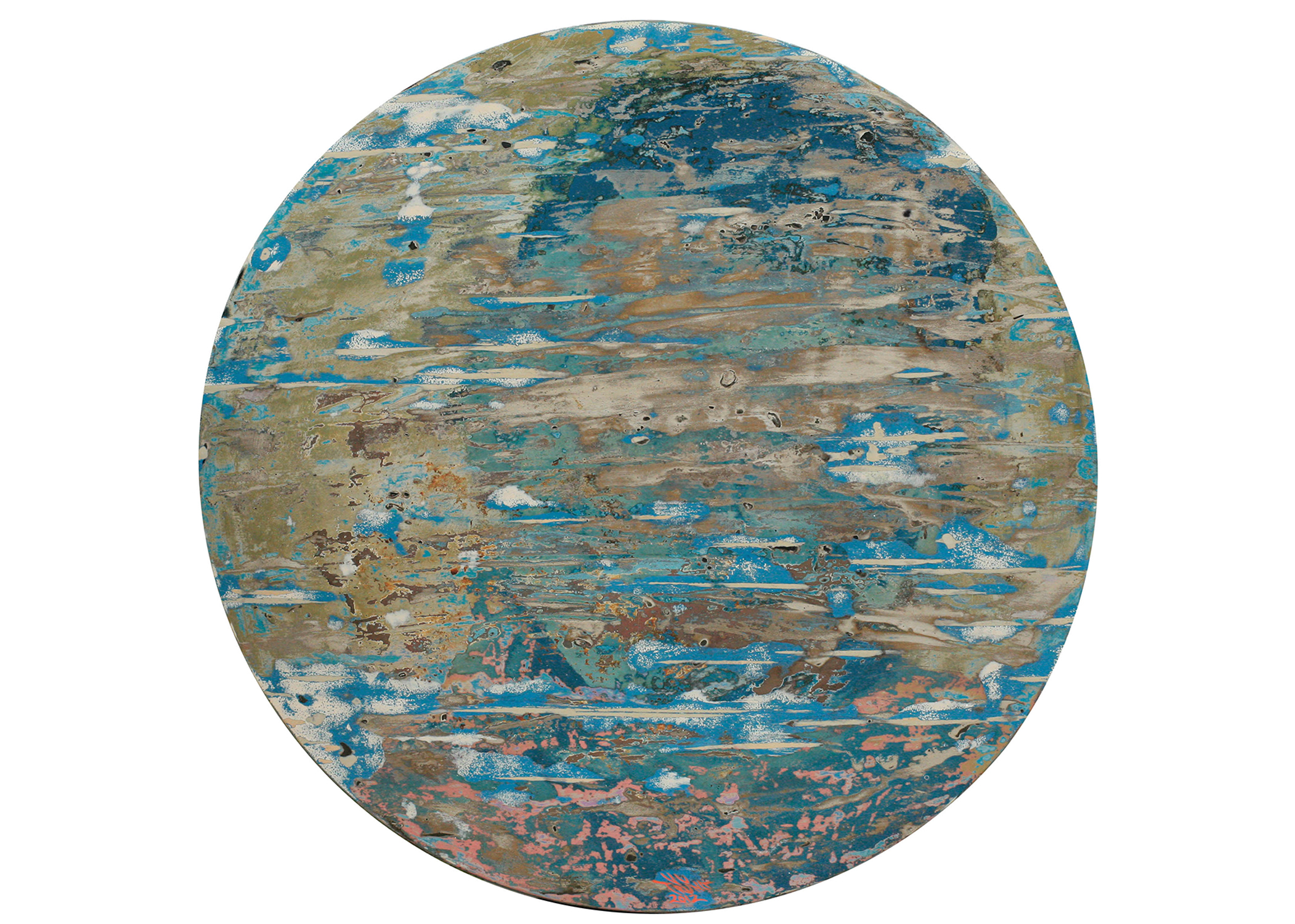 Worlds of Water by Vu Duc Trung, lacquer on wood, 2012, 60 cm sphere