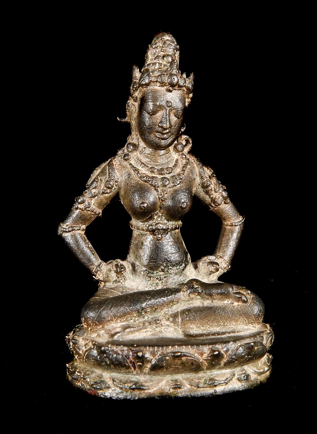 Indonesia, Eastern Javanese period, Ngandjuk, 975-1050 3 5/16 (8.4 cm.) high