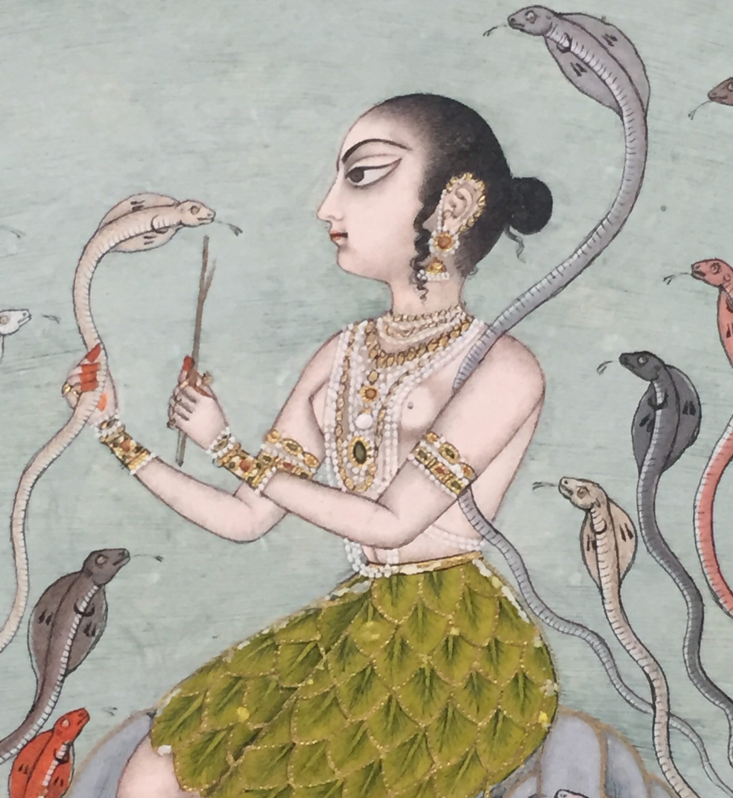 RITA DIXIT INDIAN MINIATURES Asavari Ragini: A Painted Melody Murshidabad, Bengal, India c. 1780 Opaque pigments with gold on paper 29cm by 22.2cm (folio)