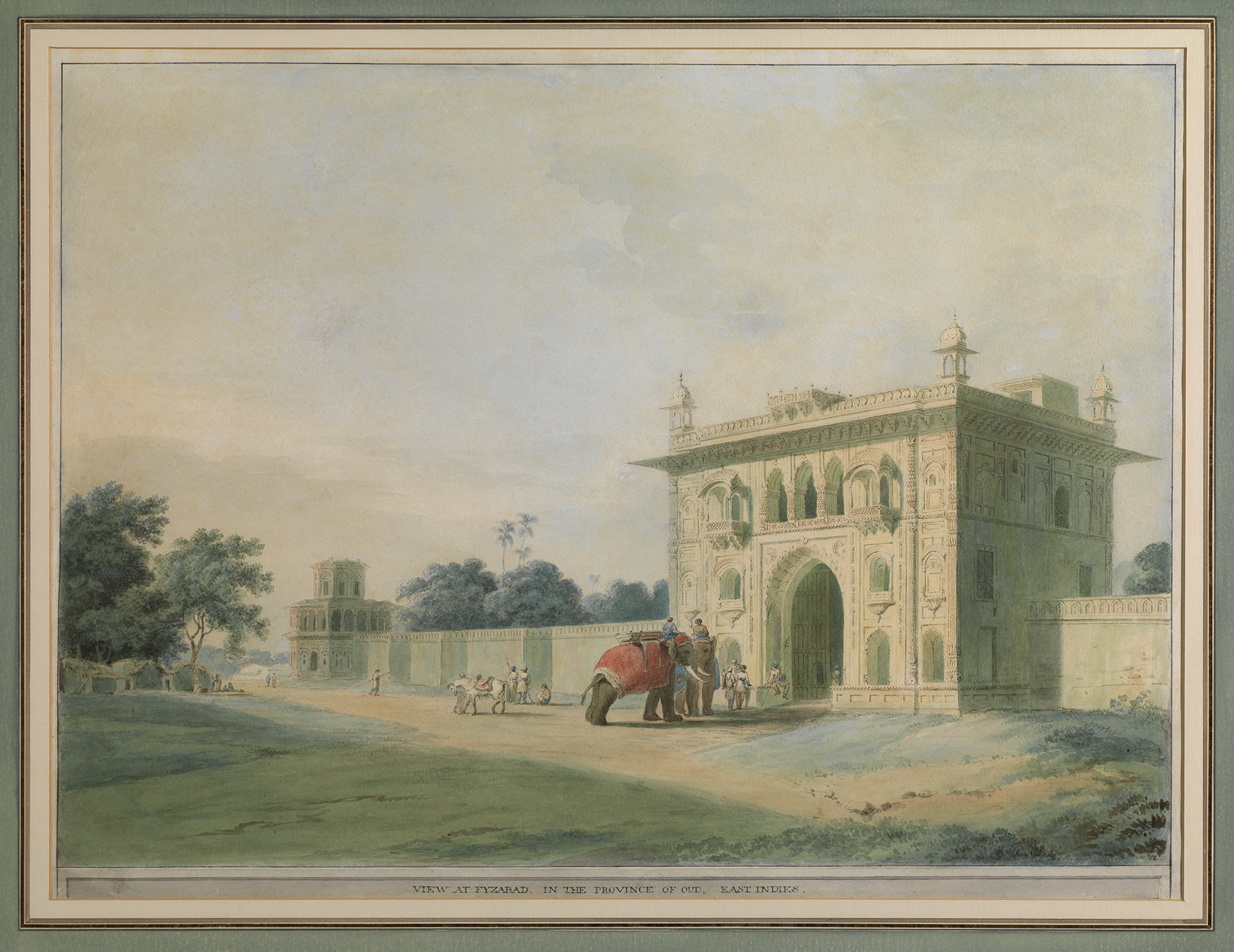William Daniell (1769-1786), The Lalbagh Gate at Faizabad, Watercolour on paper, 48 by 64 cm.