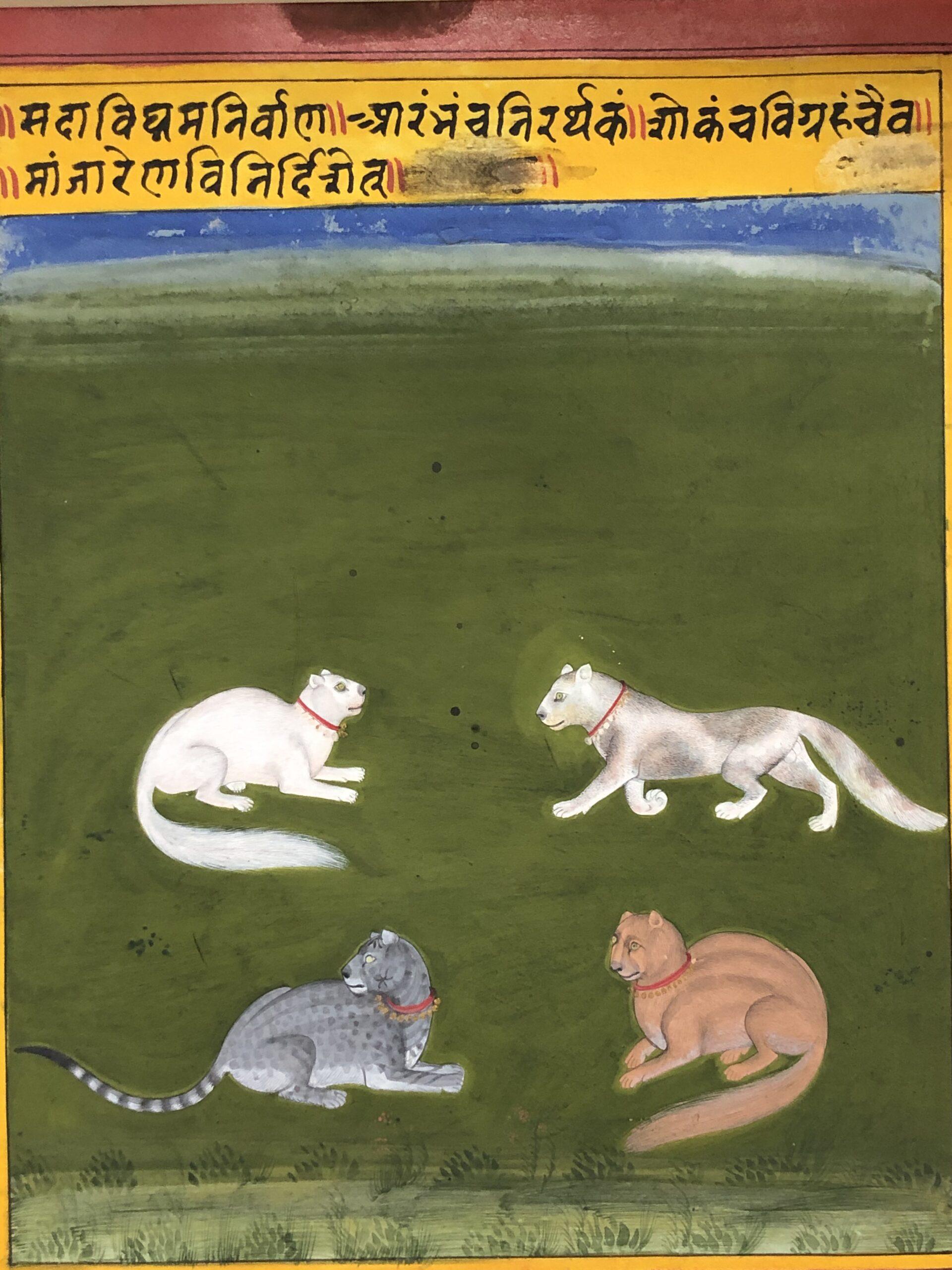 Mewar, Rajasthan, India c. 1720 Opaque Pigments on paper 25cmx18.75cm (image); 25.8cmx21.4cm (folio)