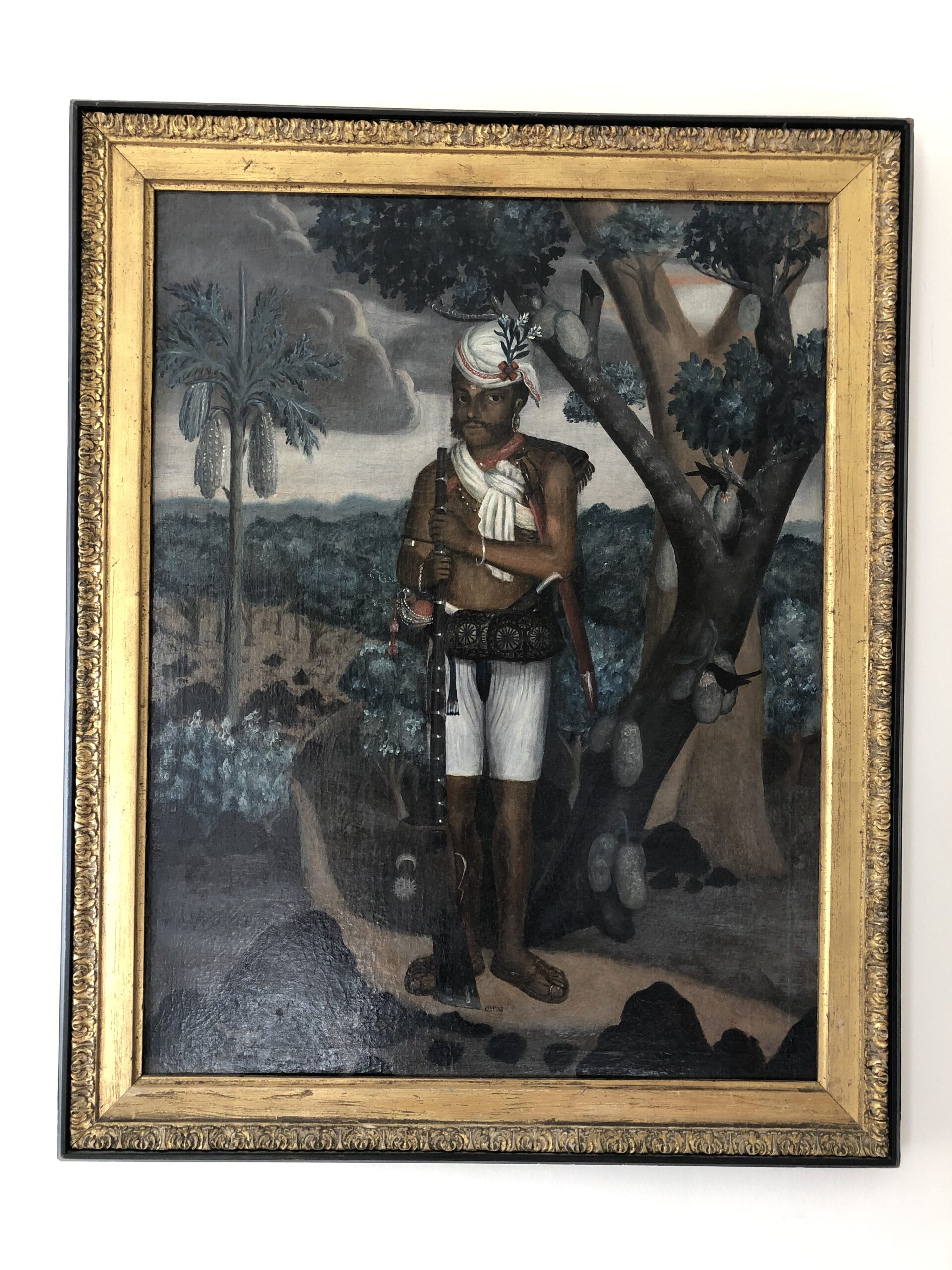FORGE & LYNCH Portrait of a Sepoy, Indo-Portuguese, late eighteenth century, oil on canvas, 63.3 by 49.8 cm.