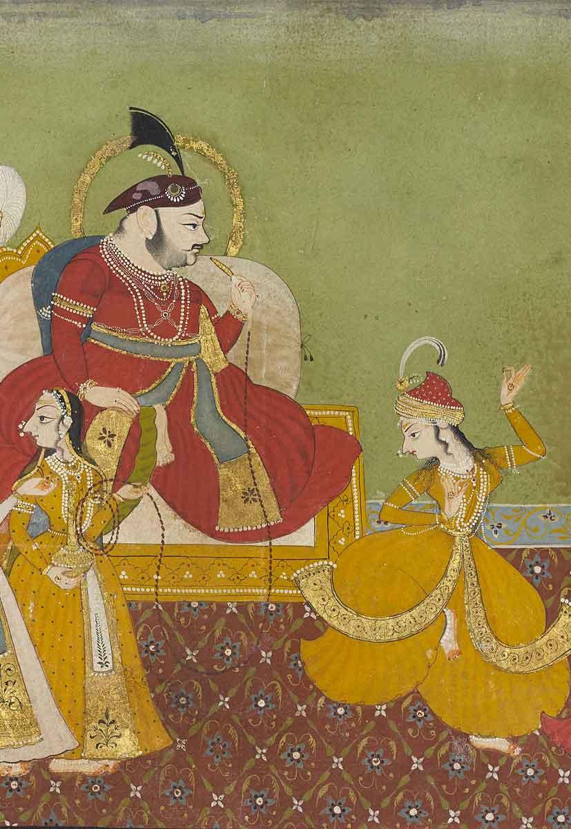 Jagat Singh II (r.1734-1751) enjoying a dance performance