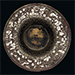A SILVER-INLAID WHITE BRONZE FLARING BOWL