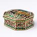 HEXAGONAL GOLD ENAMELLED BOX, Jaipur 19th Century