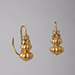 A PAIR OF GOLD DOUBLE GOURD EARRINGS, Chinese Ming Dynasty 16th Century