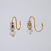 A PAIR OF GOLD AND CRYSTAL EARRINGS, Ming Dynasty, 16th Century