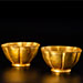 A PAIR OF GOLD FLUTED CUPS, Ming Dynasty, circa 1600