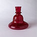 A RED GLASS HUQQA, Mughal, India 17- 18th Century