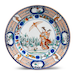 'La Dame au Parasol' Plate, Porcelain decorated in underglaze cobalt blue, overglaze polychrome enamels, and gold, Edo period (1615-1868), ca. 1737
