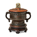 A Chinese bronze censer, Ming dynasty