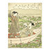 An extremely rare aiban print of Natsu (Summer) from the series Fuzoku shiki no hana (Fashionable Flowers of the Four Seasons), Suzuki Harunobu (1725-1770), Edo Period, circa 1769-1770