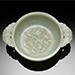 A very fine and rare pale green jade marriage bowl