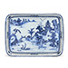 Tray, Porcelain decorated in underglaze cobalt blue, Qing dynasty, Qianlong period (1736-1795)